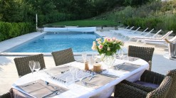 Dining by the pool